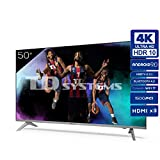 TD Systems K50DLJ12US - Televisores Smart TV 50 Pulgadas 4k UHD Android 9.0 y HBBTV, 1500 PCI Hz, 3X...